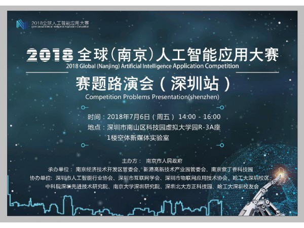 2018全球(南京)人工智能应用大赛巡